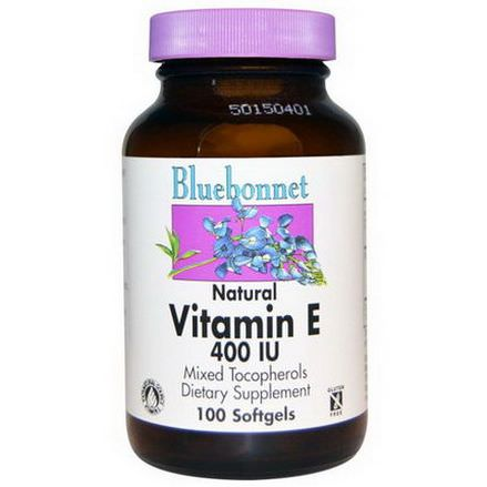 Bluebonnet Nutrition, Natural Vitamin E, 400 IU, 100 Softgels