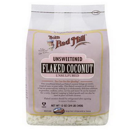 Bob's Red Mill, Flaked Coconut, Unsweetened 340g