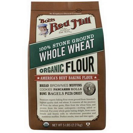 Bob's Red Mill, Organic 100% Stone Ground Whole Wheat Flour 2.27 kg