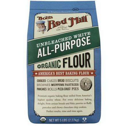 Bob's Red Mill, Organic All-Purpose Unbleached White Flour 2.27 kg