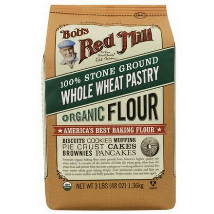 Bob's Red Mill, Organic, Whole Wheat Pastry Flour 1.36 kg