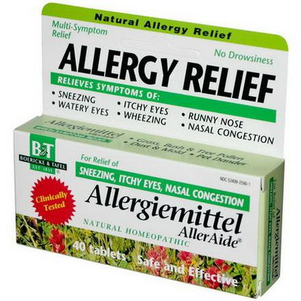 Boericke&Tafel, Allergy Relief, Allergiemittel AllerAide, 40 Tablets
