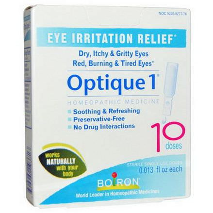 Boiron, Optique 1, Eye Irritation Relief, 10 Doses, 0.013 fl oz Each