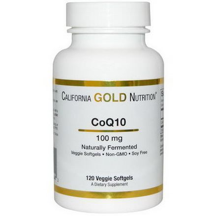 California Gold Nutrition, CoQ10, Naturally Fermented, 100mg, 120 Veggie Softgels