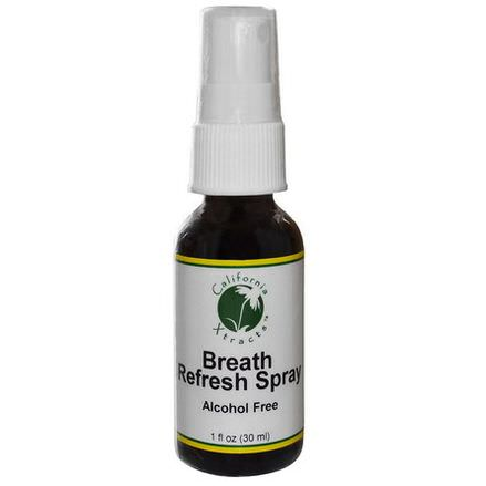 California Xtracts, Breath Refresh Spray, Alcohol Free 30ml