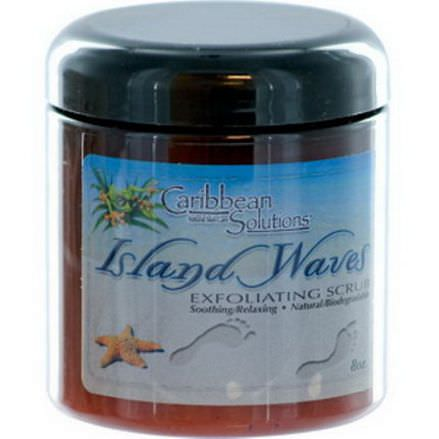 Caribbean Solutions, Island Waves, Exfoliating Scrub, 8 oz