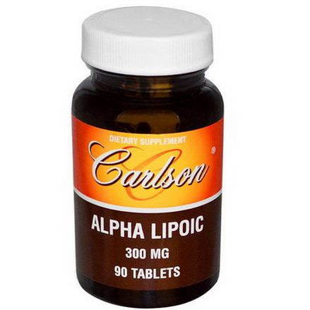 Carlson Labs, Alpha Lipoic, 300mg, 90 Tablets