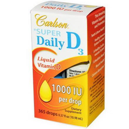 Carlson Labs, Super Daily D3, 1000 IU 10.98ml