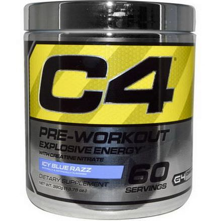 Cellucor, C4, Pre-Workout, Explosive Energy, Icy Blue Razz 390g