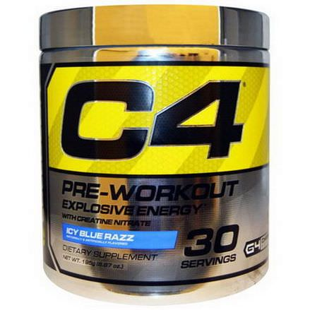 Cellucor, C4, Pre-Workout, Explosive Energy, Icy Blue Razz 195g