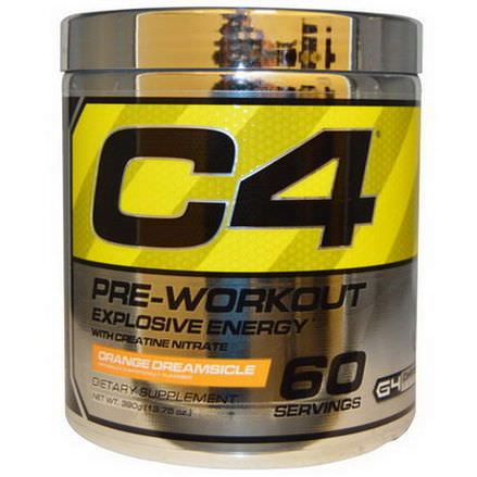 Cellucor, C4, Pre-Workout, Explosive Energy, Orange Dreamsicle 390g
