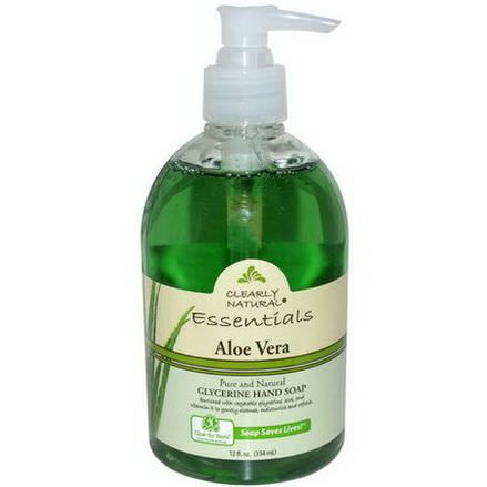 Clearly Natural, Essentials, Glycerine Hand Soap, Aloe Vera 354ml