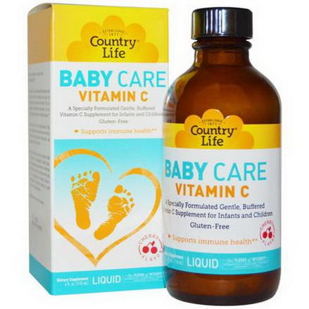 Country Life, Baby Care Vitamin C Liquid, Cherry Flavor 118ml