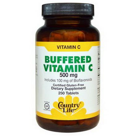Country Life, Buffered Vitamin C, 500mg, 250 Tablets