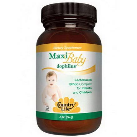 Country Life, Maxi Baby Dophilus, Powder 56g