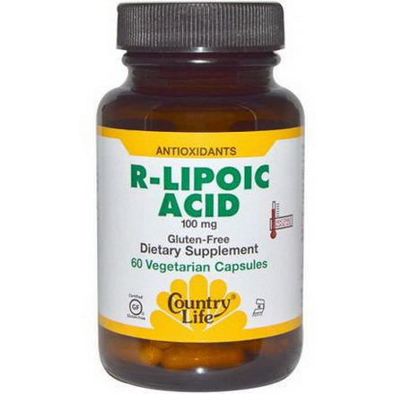 Country Life, R-Lipoic Acid, 100mg, 60 Veggie Caps