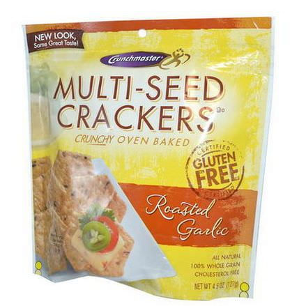 Crunchmaster, Multi-Seed Crackers, Roasted Garlic 127g