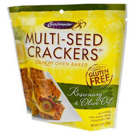 Crunchmaster, Multi-Seed Crackers, Rosemary&Olive Oil 127g