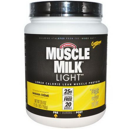 Cytosport, Inc, Genuine Muscle Milk Light, Lower Calorie Lean Muscle Protein, Banana Creme 750g