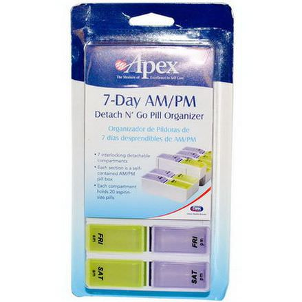 DNG Apex, 7-Day AM/PM Detach N'Go, 1 Pill Organizer