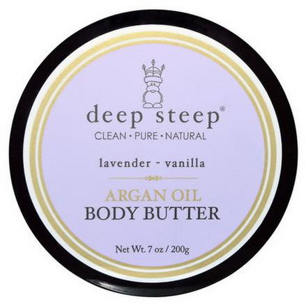 Deep Steep, Argan Oil Body Butter, Lavender - Vanilla 200g