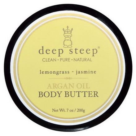 Deep Steep, Argan Oil Body Butter, Lemongrass - Jasmine 200g