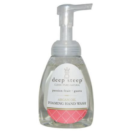 Deep Steep, Argan Oil Foaming Hand Wash, Passion Fruit - Guava 237ml