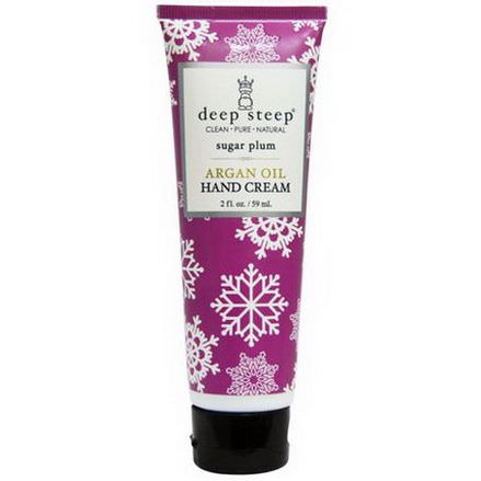 Deep Steep, Argan Oil Hand Cream, Sugar Plum 59ml