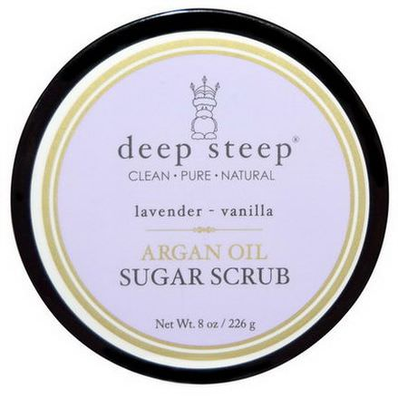 Deep Steep, Argan Oil Sugar Scrub, Lavender - Vanilla 226g