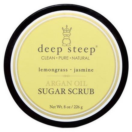Deep Steep, Argan Oil Sugar Scrub, Lemongrass - Jasmine 226g