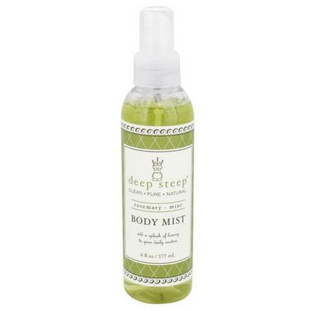Deep Steep, Body Mist, Rosemary-Mint 177ml