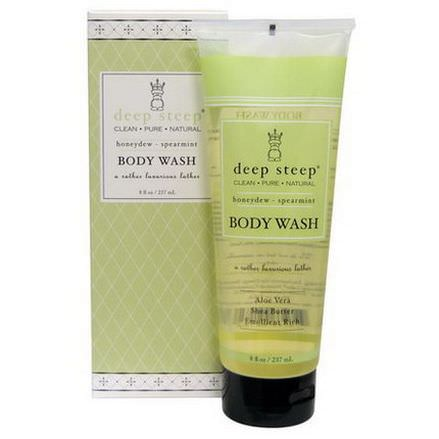 Deep Steep, Body Wash, Honeydew - Spearmint 237ml