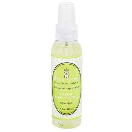 Deep Steep, Dry Oil Body Spritzer, Honeydew Spearmint 118ml