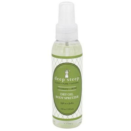 Deep Steep, Dry Oil Body Spritzer, Rosemary Mint 118ml