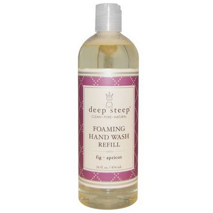 Deep Steep, Foaming Hand Wash Refill, Fig - Apricot 474ml