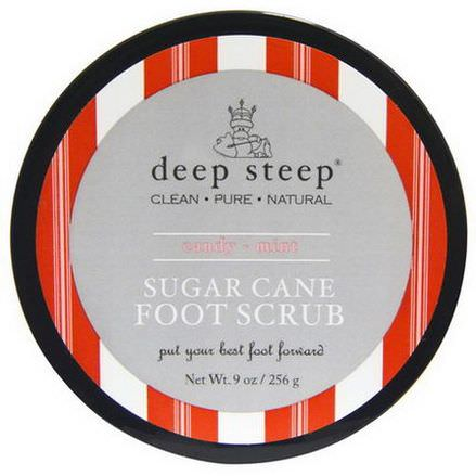 Deep Steep, Sugar Cane Foot Scrub, Candy - Mint 256g