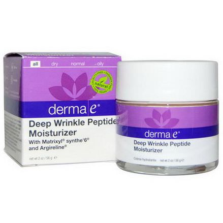 Derma E, Deep Wrinkle Peptide Moisturizer with Matrixyl Synthe'6 and Argireline 56g