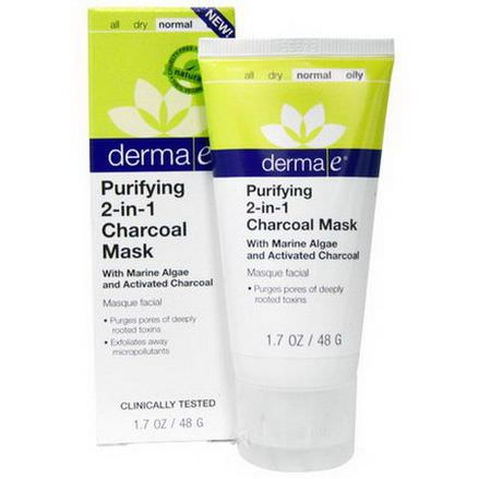 Derma E, Purifying 2-in-1 Charcoal Mask 48g
