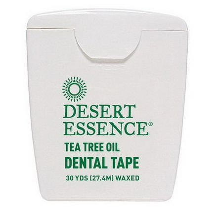Desert Essence, Dental Tape, Tea Tree Oil, Waxed 27.4m