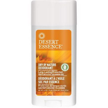 Desert Essence, Dry By Nature Deodorant, with Chamomile and Calendula 70ml
