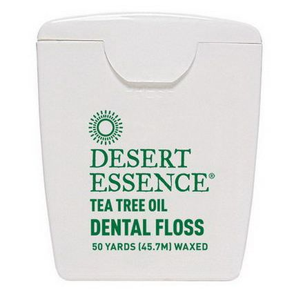 Desert Essence, Tea Tree Oil Dental Floss, Waxed 45.7m