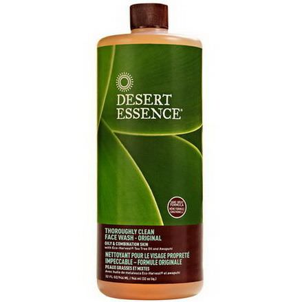 Desert Essence, Thoroughly Clean Face Wash - Original, Oily&Combination Skin 946ml