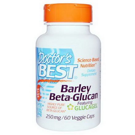 Doctor's Best, Barley Beta-Glucan Featuring GlucaGel, 250mg, 60 Veggie Caps