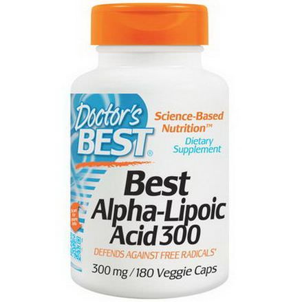 Doctor's Best, Best Alpha-Lipoic Acid 300, 300mg, 180 Veggie Caps