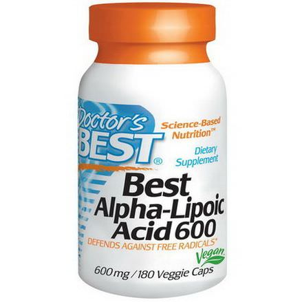 Doctor's Best, Best Alpha-Lipoic Acid, 600mg, 180 Veggie Caps