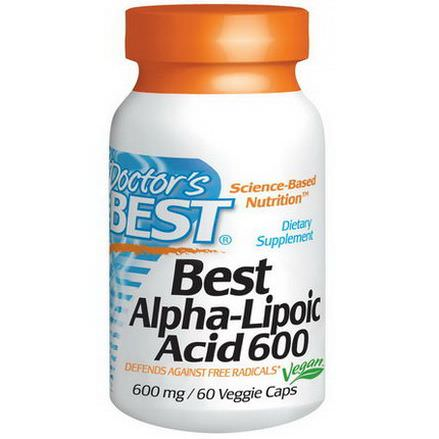 Doctor's Best, Best Alpha-Lipoic Acid, 600mg, 60 Veggie Caps