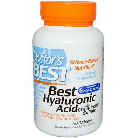 Doctor's Best, Best Hyaluronic Acid with Chondroitin Sulfate, 60 Tablets