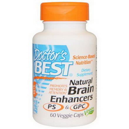 Doctor's Best, Natural Brain Enhancers PS&GPC, 60 Veggie Caps