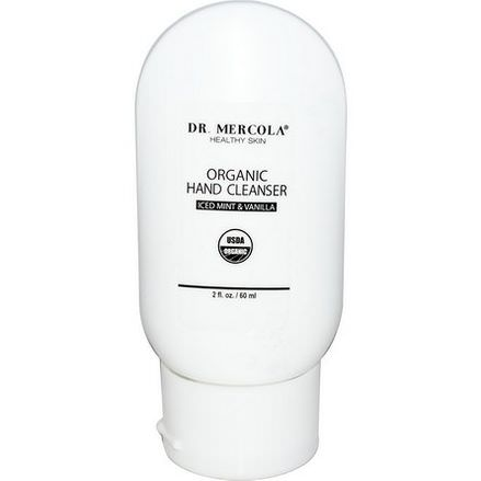 Dr. Mercola, Healthy Skin, Organic Hand Cleanser, Iced Mint&Vanilla 60ml