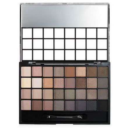 E.L.F. Cosmetics, 32 Piece Eyeshadow Palette, Natural 28g